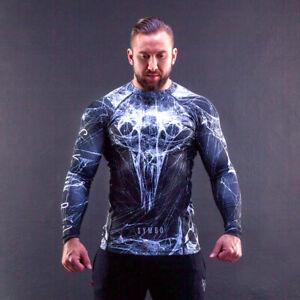 Spiderweb Long Shirt Men's Rashguard Thermoactive Compression Sports Fitness