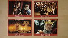 (H137) 4x Aushangfotos BRAVEHEART Mel Gibson / Sophie Marceau