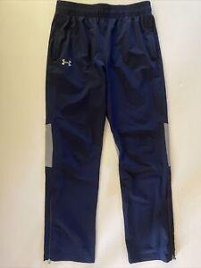 Under Armour Men's Size Medium Loose Navy Blue Gray Athletic Track Pants EUC