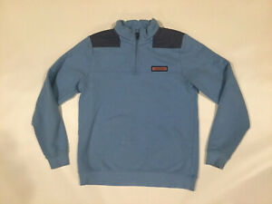 Vineyard Vines Boys Size XL 18 Shep Shirt Lacrosse 1/4 Zip Pullover Sweater Blue