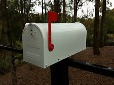 US style LETTERBOX MAIL BOX MAILBOX INDICATOR WHITE NEW GALVANIZED STEEL
