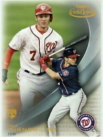 "Trea Turner - Rookie /49 - 2016 Topps Gold Label - Jumbo 5""x7"" (#74) - Nationals"