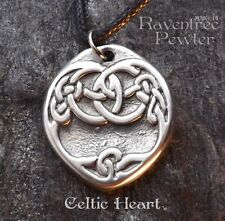 Celtic Heart - Pewter Pendant - Celtic Knotwork, sharing our love of Celtic