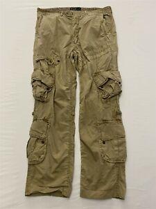 Polo Ralph Lauren 34 x 30 Tan Trooper Military Style Oversized Pocket Cargos