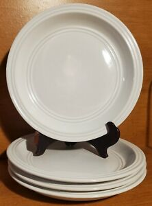 """Mainstays ARCTIC WHITE Salad plate set of 4, 8 1/8"""", Stoneware, Excellent"""