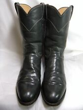 Justin Roper Mens Cowboy Boots Style 3025 Size 10.5 B   Gray leather    #47 JS