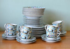 Vintage  Drayton International dinner set 8911 Paradise Japan for 8 people 40 pc