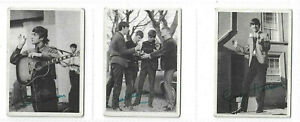 A.& B.C.GUM - Beatles (Black and White)-1964 - No's 44/45/46- Good Clean Cards