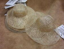 """3"""" Natural Sinamay Doll Bear Bunny Straw Hats lot of 12"""