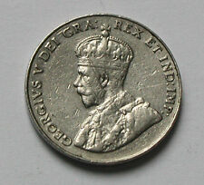 1934 CANADA George V Nickel Coin - 5 Cents - scratches