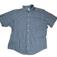 Brooks Brothers Men's XXL Supima Cotton Plaid Short Sleeve Button Down Shirt