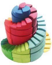 Grimm's Game and Wood Design 42095 Doppelläufige Stufenspirale Building Bricks