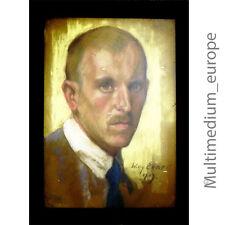 Willy Exner 1888-1947 Pastell Kreide Portrait eines Mannes signiert um 1919