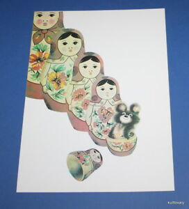 USSR 1980 Vintage poster Olympic Games moscow  matrioshka  placad art Olympiad