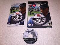 Tiger Woods PGA Tour 2003 (Nintendo GameCube, 2002) Black Label Complete Exc!