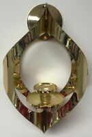 MASCOT BRUTALIST WALL OR CEILING SCONCE HANGING CANDLE HOLDER GOLD METAL MCM