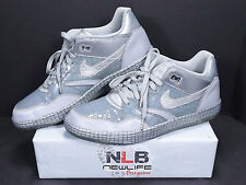 2011 Nike Sky Force 88 Low Mighty Crown LTR QS 503767-001 Silver Men's Size 12