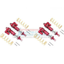 GPM Alum Front & Rear L-Shape Piggy Back Spring Dampers 125mm (4) Red : Maxx