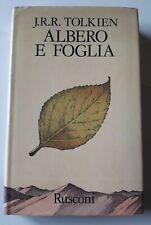 TOLKIEN ALBERO E FOGLIA RUSCONI PRIMA EDIZIONE ITALIANA 1976 - OTTIMO!