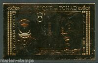 CHAD PRESIDENT JOHN F. KENNEDY APOLLO PROGRAM GOLD FOIL STAMP IMPERF MINT NH