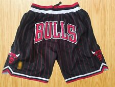 Men's Chicago Bulls Vintage Basketball Game Shorts NWT Stitched