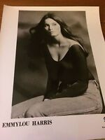 VERY RARE Emmylou Harris Photo Warner Brothers Records Promo Photo 1970s