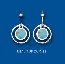 Orecchini di lusso con gemme pendenti turchese