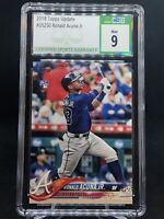 2018 Topps Update Ronald Acuna Jr. #US250 CSG 9 RC PSA/BGS