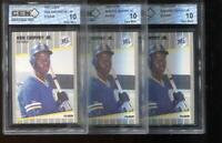(3) Count Lot Ken Griffey Jr. RC 1989 Fleer #546 Mariners Rookie GEM MINT 10