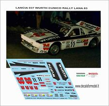 DECALS 1/24 LANCIA 037 WURTH CUNICO RALLY LANA 1983