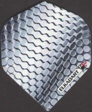 Silver Titanium Pattern Dart Flights: 3 per set