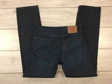 Mens LEVIS 505 Red Tab Straight Dark Spilled Paint Effect Jeans W31-32 L32