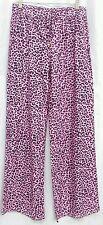 Denim-licious Palazzo Pants, Size L MSRP $42.90 pink leapord print