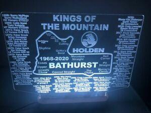 """Bathurst Holden """"Kings of the Mountain"""" LED race track sign light 285 x 250mm"""