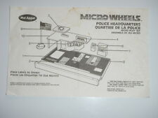 1989 Micro Wheels Police Headquarters Mel Appel Instructions Only Vintage