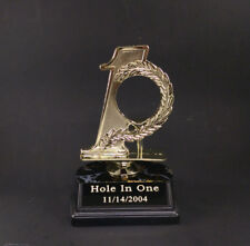 GOLF HOLE IN ONE TROPHY  GOLF BALL HOLDER. FREE ENGRAVING.