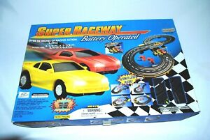 Super Raceway Battery Operated 94 Inches Racing Action Chevrolet Camaro Mustang
