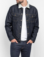 Mens Lee Sherpa Rider Denim Jacket 'Rinse' (SECONDS) L201