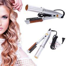 Wet To Dry 2-Way 3-Mode Rotating Curling Iron Hair Brush Curler Straightener