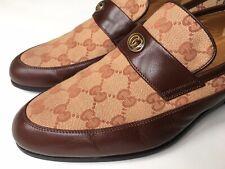 GUCCI Mens Gucci Team Motif GG Signature Supreme Loafers UK 8.5 (US 9) $950