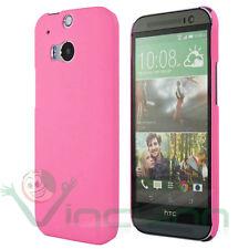 Pellicola display+Custodia rigida back cover ROSA per HTC One M8 case nuova