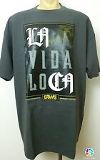 LA VIDA LOCA Streetwise Clothing Men's T Shirt Gray Sz 2XL Urban Rich Street New