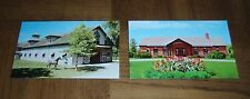 LOT OF 2 CASTLETON FARM POSTCARDS -LEXINGTON, KY- SADDLE BROOK BARN -FARM OFFICE