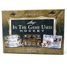 2020-21 Juego Usado Hockey LEAF IN THE cuadro de manía
