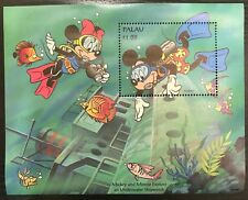 Palau- Disney, Mickey & Minnie Explore Stamp- Souvenir Sheet MNH