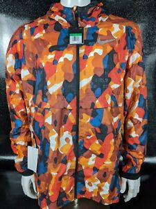 Nike Shield 3M Ghost Flash Camo Running Reflective Jacket Men's XL Orange Red