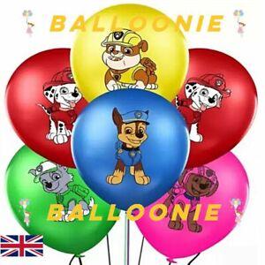 "Paw Patrol Printed Latex Balloons 12"" Birthday Party Decorations Supplies Dog"