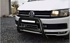 VW T5 T6 TRANSPORTER STEEL BLACK AXLE NUDGE A-BAR BULL BAR GUARD 2003-2019 W K