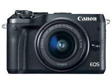 Canon EOS M6 24.2MP Digital Camera - Black (Kit w/ EF-M 15-45mm Lens) (Latest Mo