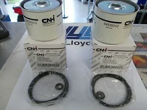 Genuine (84535312/KK960911) Ford/New Holland CNH Diesel Fuel Filters x2 - BA